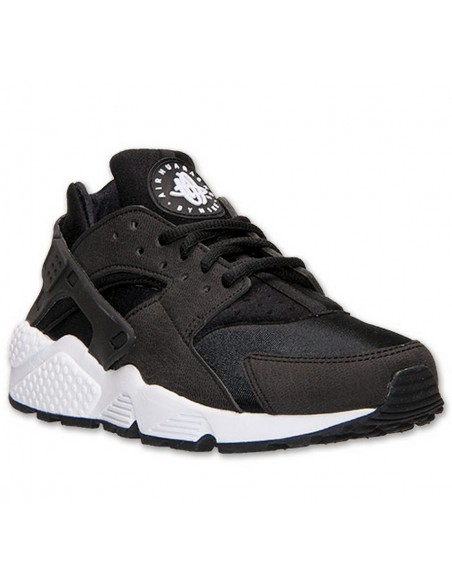 BLACK WITH WHITE SOLE HUARACHE