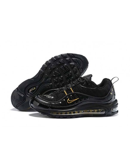 Nike Air Max 98 Negras Doradas