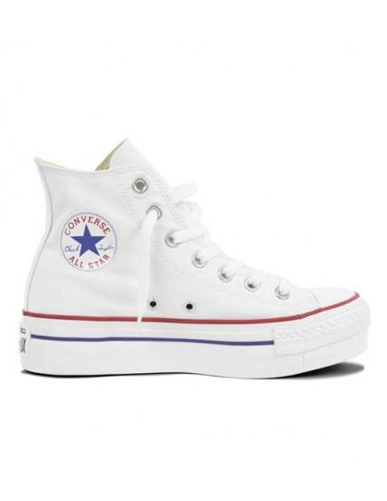 Converse All Star Plataforma Altas Blancas