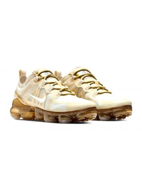Nike Air VaporMax 2019 Blancas y doradas