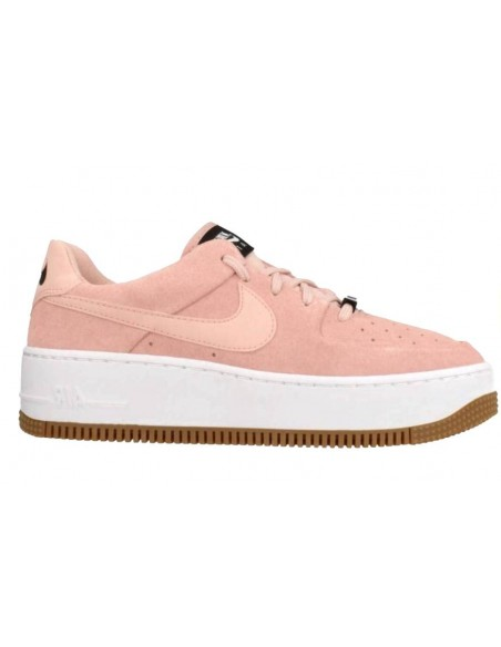 NIKE AIR FORCE ONE PLATAFORMA ROSAS