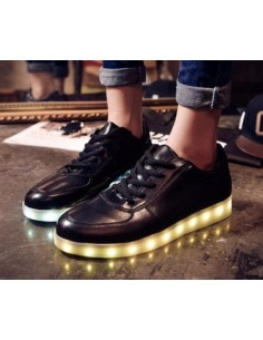 LED SHOES NEGRAS