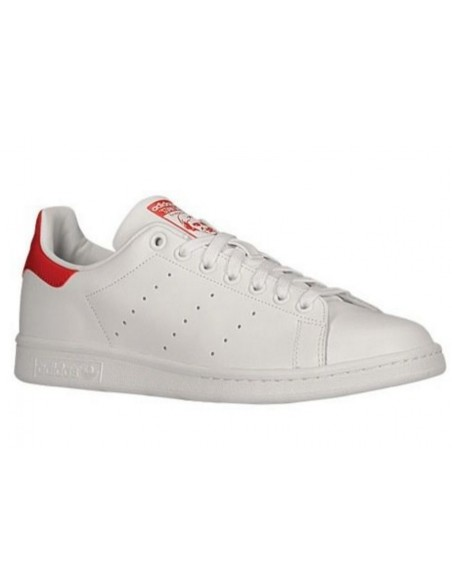 WHITE/RED ADIDAS STAN SMITH