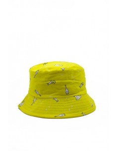 Gorro Amarillo Estampado