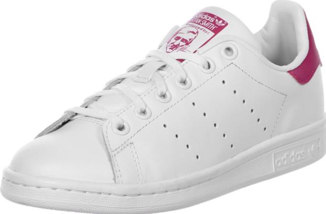 adidas stan smith rosa y blanca