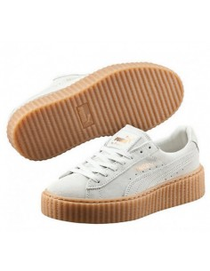 WHITE BROWN PUMA CREEPER BY RIHANNA