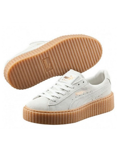 PUMA CREEPER BY RIHANNA BLANCAS MARRON