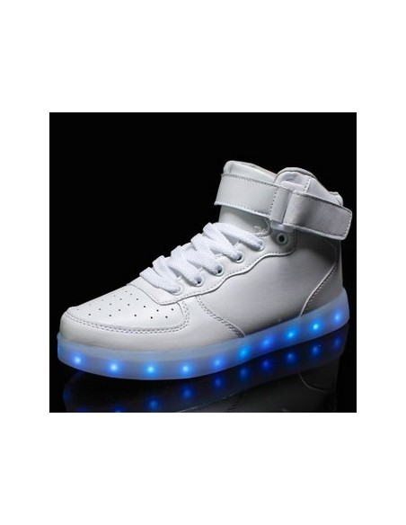 WHITE BOOT LED SHOES BOTA BLANCA