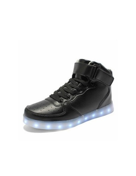 BLACK BOOT LED SHOES