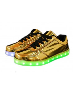 LED SHOES DORADAS
