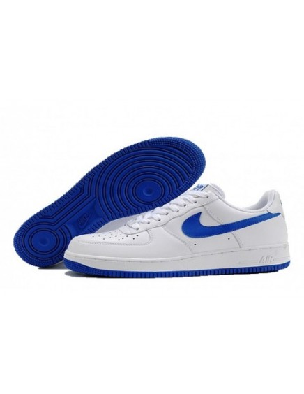 NIKE AIR FORCE ONE BLANCAS AZULES BAJAS/LOW