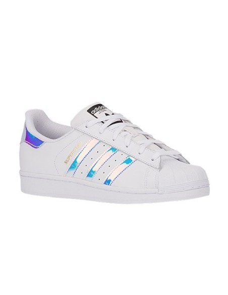 WHITE/SILVER BRIGHT ADIDAS SUPERSTAR