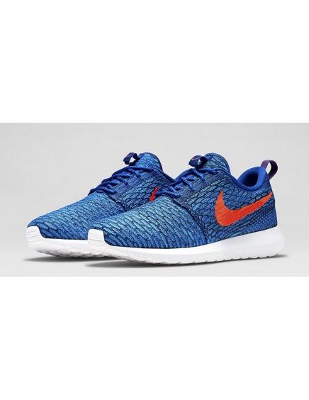 Roshe Run Flyknit Azules/Rojas