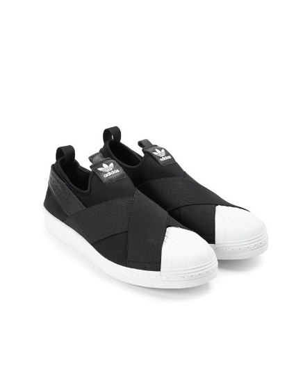 BLACK ADIDAS SLIP ON