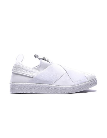 WHITE ADIDAS SLIP ON