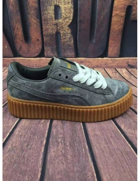 PUMA CREEPER BY RIHANNA GRIS SUELA MARRON