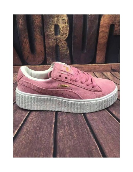 PINK WITH WHITE SOLE PUMA CREEPER BY RIHANNA