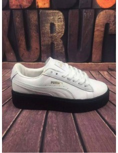 WHITE WITH BLACK SOLE PUMA CREEPER BY RIHANNA