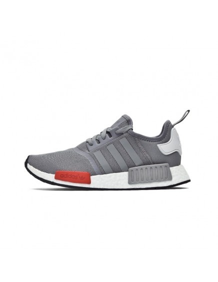 GREY RED ADIDAS NMD