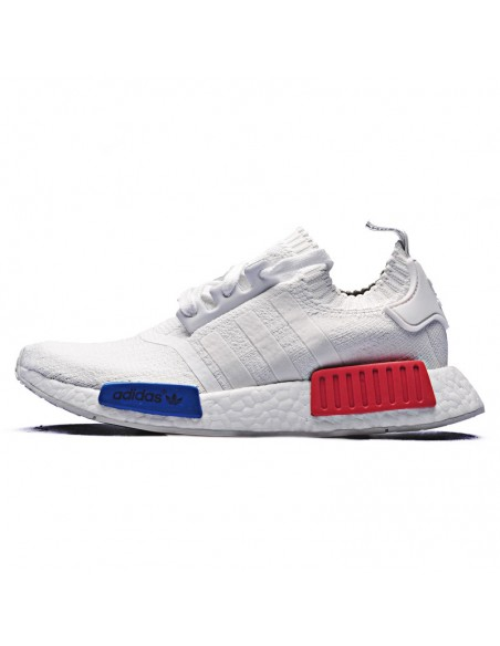 WHITE RED BLUE ADIDAS NMD