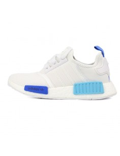 WHITE BLUE ADIDAS NMD