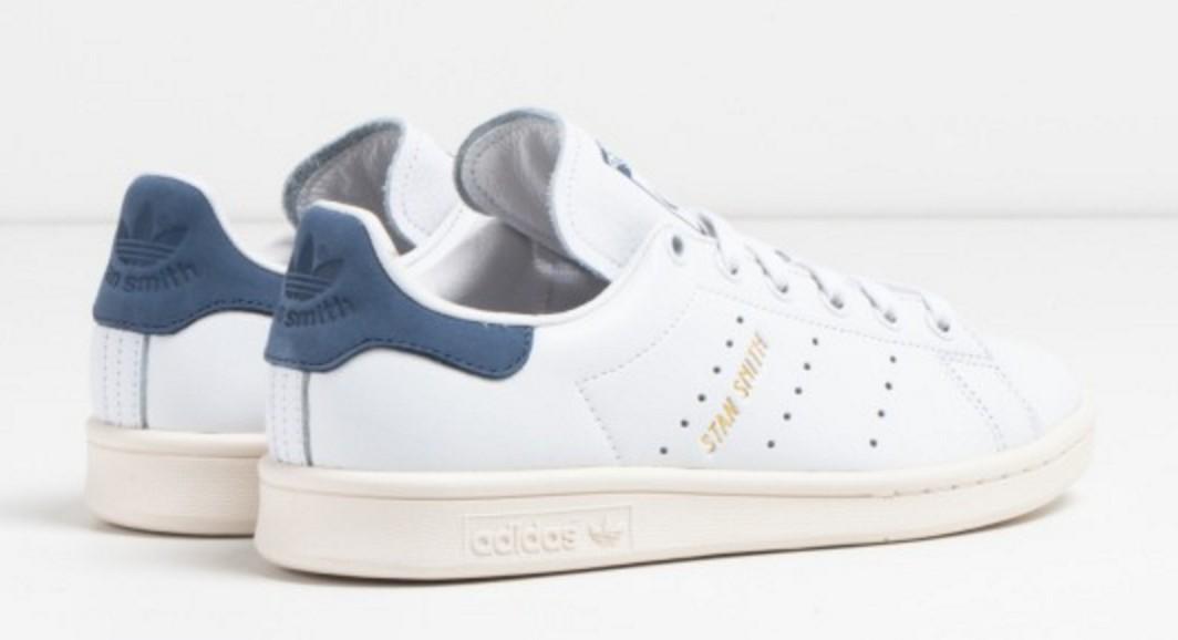 adidas stan smith blanco azul