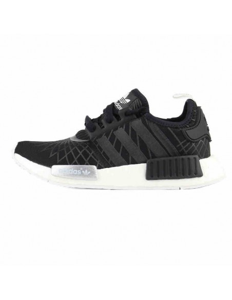BLACK STRIPED ADIDAS NMD