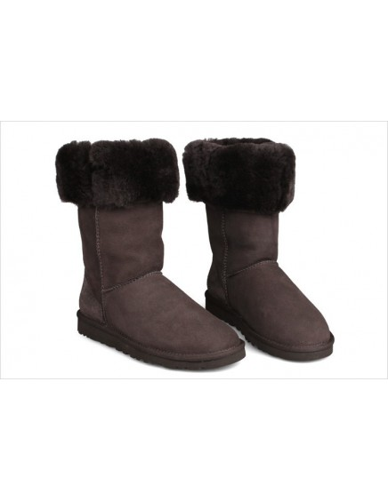 UGG BOTA ALTA REVERSIBLE MARRÓN