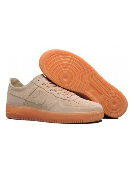 NIKE AIR FORCE ONE BEIGE ANTE BAJAS