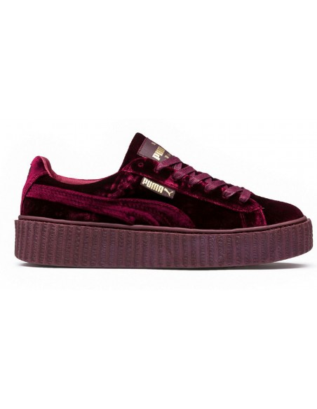 PUMA CREEPER BY RIHANNA GRANATE TERCIOPELO